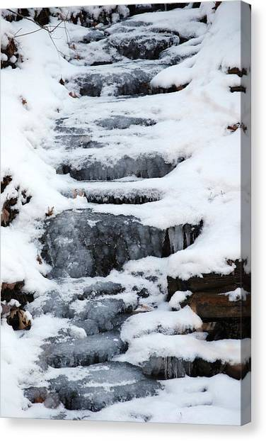 Frozen Falls Canvas Print by Peter  McIntosh