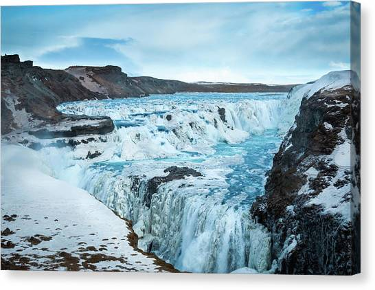 Frozen Gullfoss Canvas Print