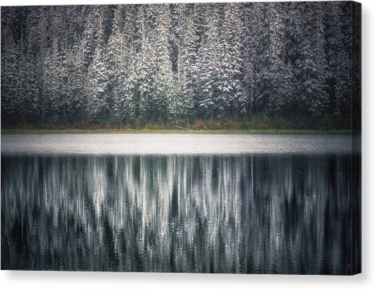 British Columbia Canvas Print - Frozen Joffre Lake 2  by Chris Fletcher