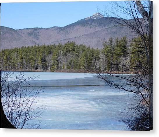Frozen Lake Chocorua Canvas Print