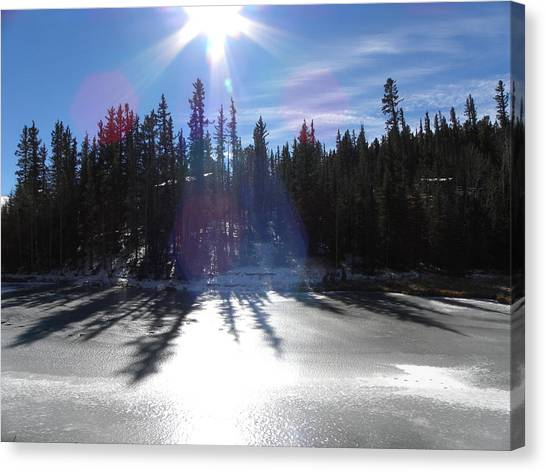 Sun Reflecting Kiddie Pond Divide Co Canvas Print