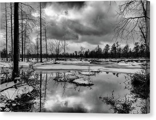 Frozen Mullica River Canvas Print