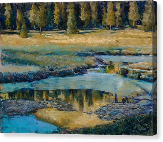 Frozen Reflections Canvas Print by Billie Colson