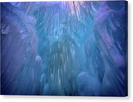 Stalactites Canvas Print - Frozen by Rick Berk
