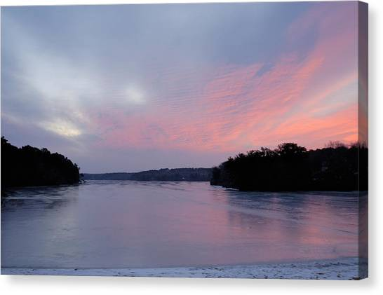Frozen Sunrise Canvas Print by Mimi Katz