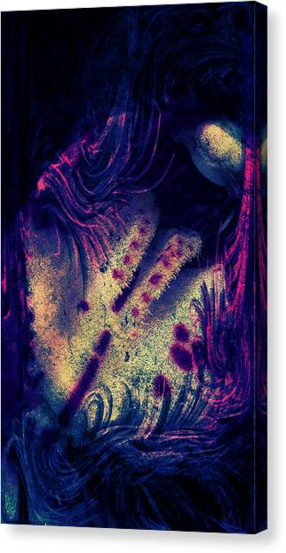 Canvas Print - Frozen Violet by Orphelia Aristal