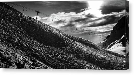 Freeriding Canvas Print - Frozen Wasteland At Ski Piste by Alexandre Rotenberg