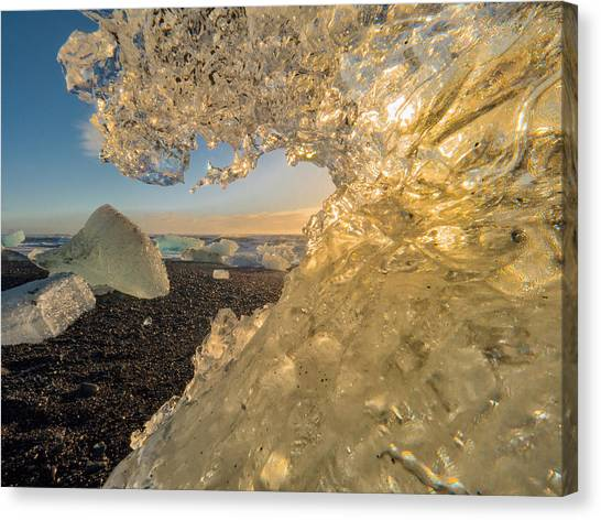 Vatnajokull Glacier Canvas Print - Frozen Wave by Dan Leffel
