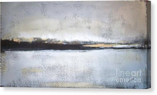 Abstract Designs Canvas Print - Frozen Winter Lake by Vesna Antic