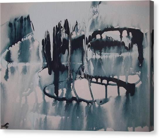 Frozen World Canvas Print by Rivka Waas