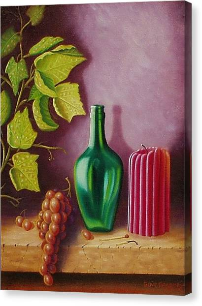 Fruit And Candle Canvas Print