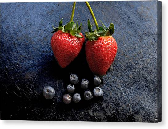 Fruit And Slate Canvas Print by Jon Daly