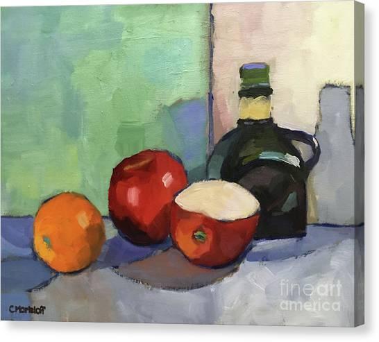 Fruit And Vinegar Canvas Print by Catherine Martzloff