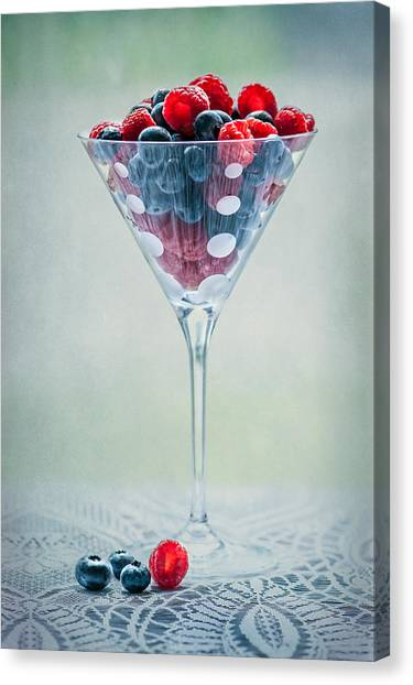 Raspberries Canvas Print - Fruit Cocktail by Maggie Terlecki