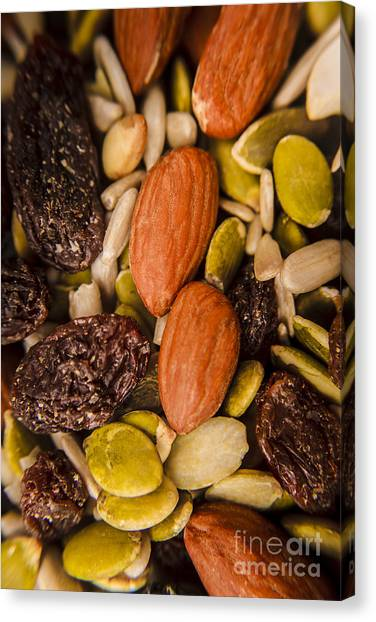 Protein Canvas Print - Fruit Nut And Seed Snack Mix by Jorgo Photography - Wall Art Gallery