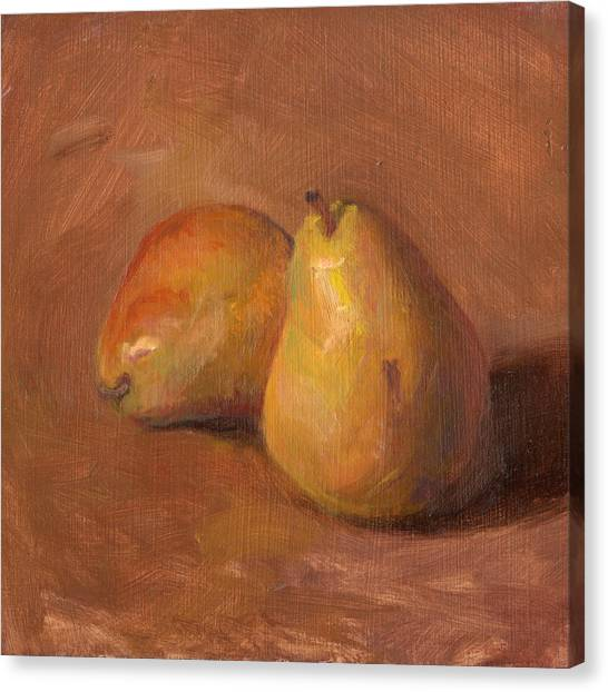 Fruit Of The Spirit- Pear 1 Canvas Print by Timothy Chambers