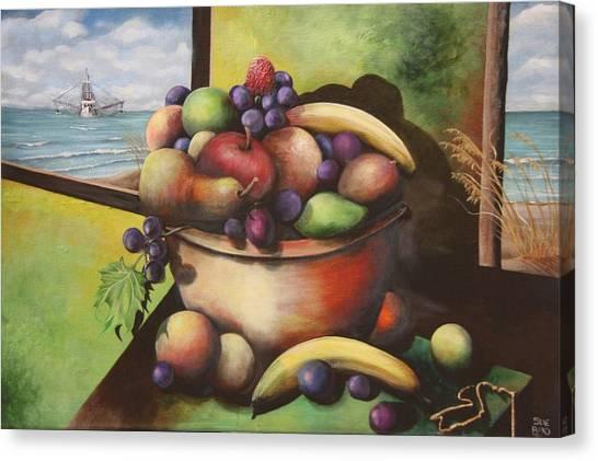 Fruit On The Beach Canvas Print