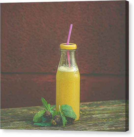Smoothie Canvas Print - Fruit Smoothie by Angela Aird
