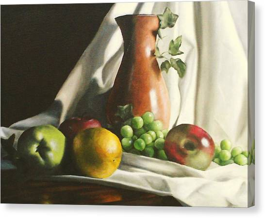 Fruit Still Life Canvas Print by Lori Keilwitz
