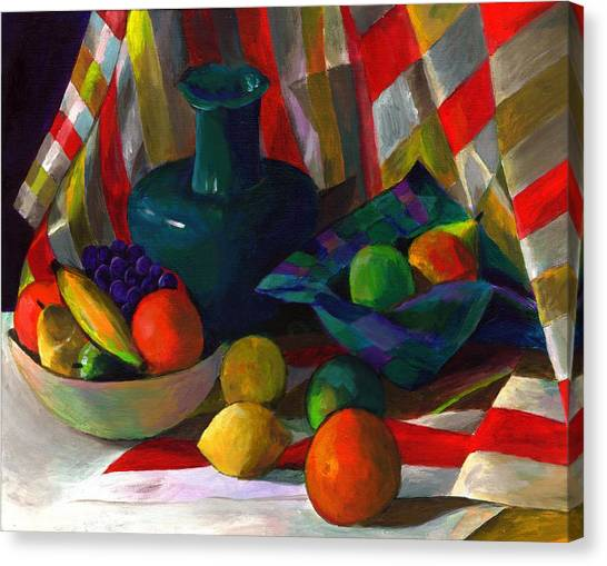 Fruit Still Life Canvas Print by Peter Shor