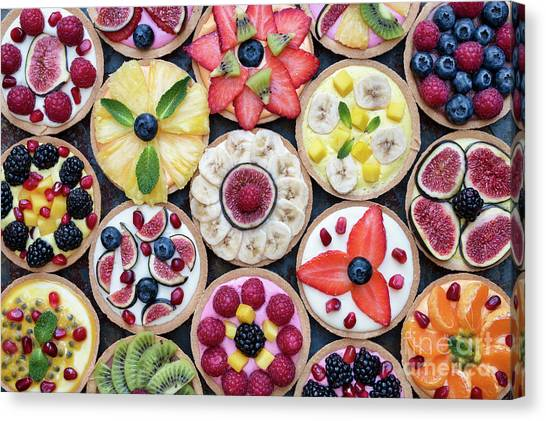Tangerines Canvas Print - Fruit Tarts  by Tim Gainey