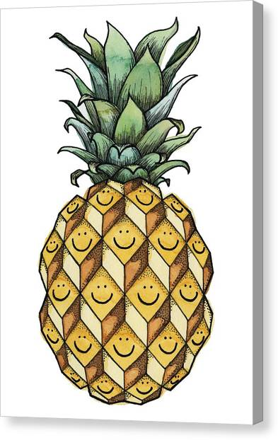 Pineapples Canvas Print - Fruitful by Kelly Jade King