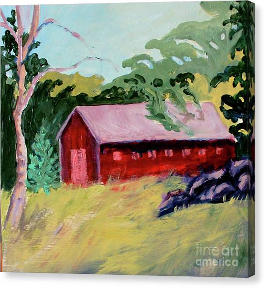 Canvas Print featuring the painting Fruitlands Iv by Priti Lathia