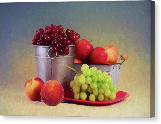 Fruit Baskets Canvas Print - Fruits On Centerstage by Tom Mc Nemar