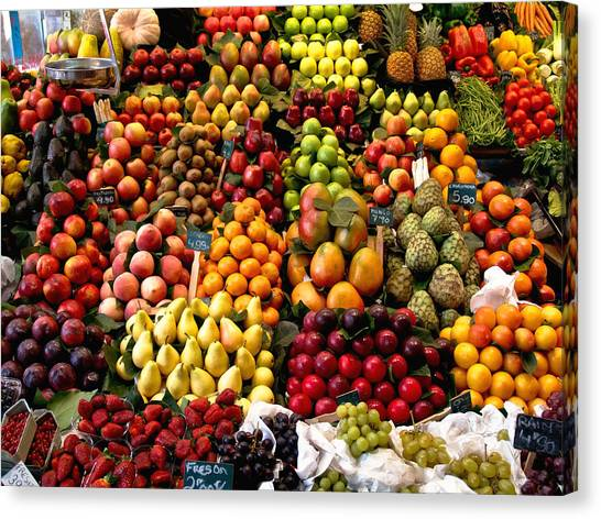 Fruitstand Canvas Print