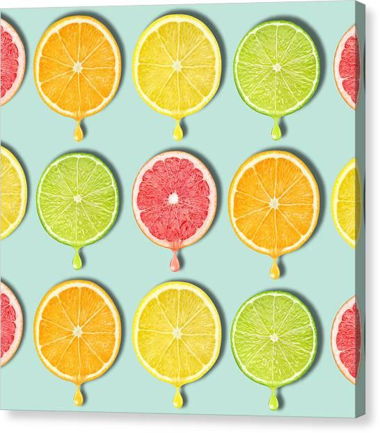 Grapefruits Canvas Print - Fruity by Mark Ashkenazi