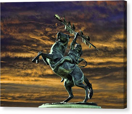Florida State Fsu Canvas Print - Fsu's Unconquered Renegade And Osceola by Frank Feliciano