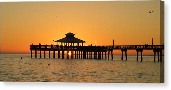 Ft. Myers Pier Canvas Print
