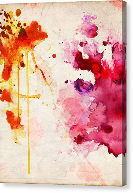 Fuchsia And Orange Color Splash Canvas Print