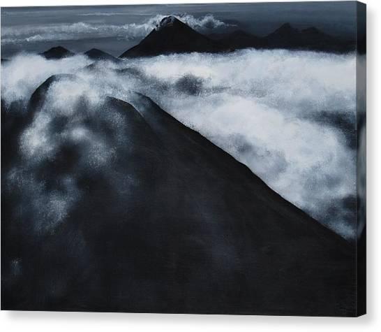 Fuego Volcano Canvas Print by Patricia Ann Dees