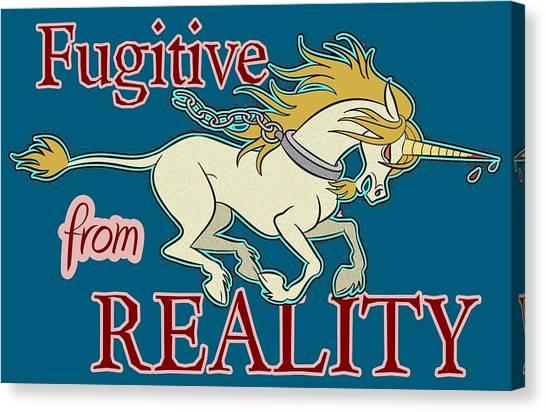 Fugitive Unicorn Canvas Print