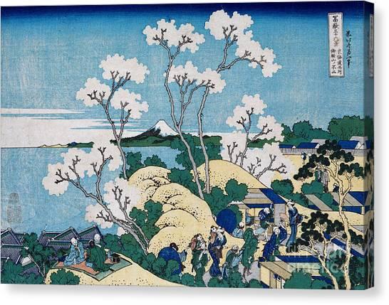 Mount Fuji Canvas Print - Fuji From Gotenyama At Shinagawa On The Tokaido by Hokusai