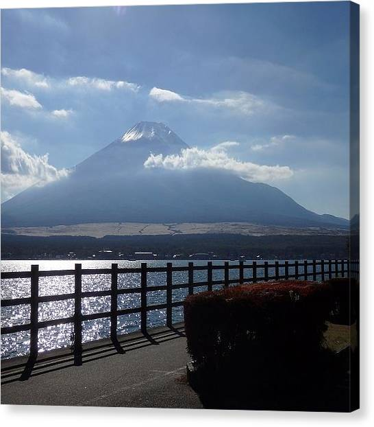 Fairies Canvas Print - Fuji From Lake Yamanaka by Kanna Fairy
