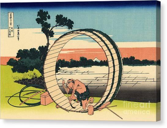 Mount Fuji Canvas Print - Fuji View Plain In Owari Province by Hokusai
