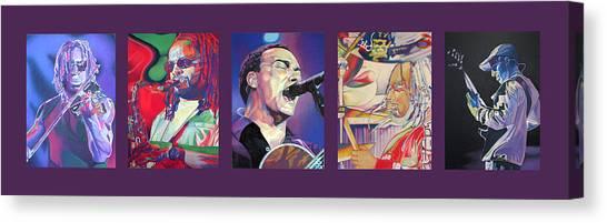 Cartera Canvas Print - Dave Matthews Band -full Band Set by Joshua Morton