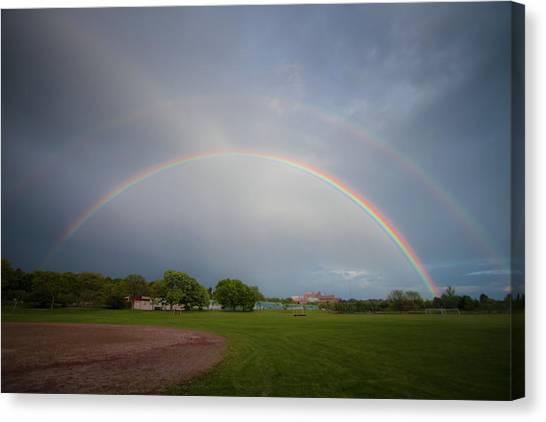Full Double Rainbow Canvas Print