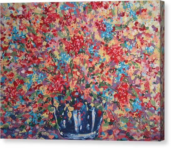 Full Flower Bouquet. Canvas Print