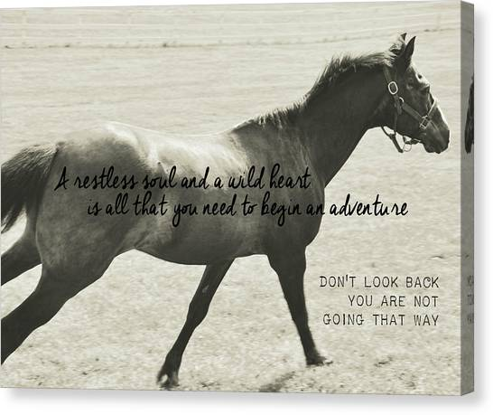 Full Gallop Quote Canvas Print