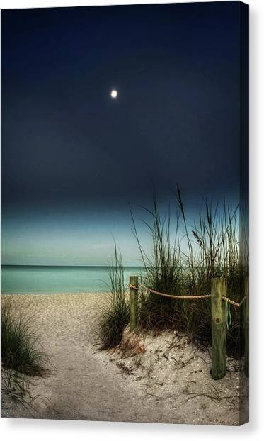 Full Moon Beach Canvas Print
