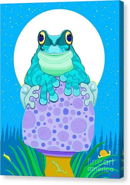 Canvas Print - Full Moon Froggy  by Nick Gustafson