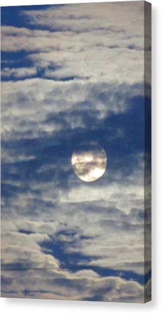 Full Moon In Gemini With Clouds Canvas Print