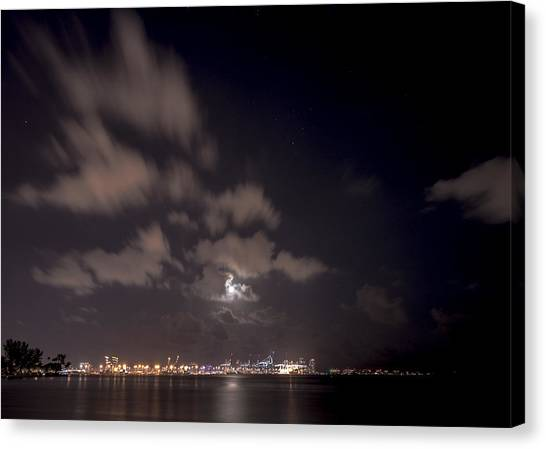 Full Moon In Miami Canvas Print