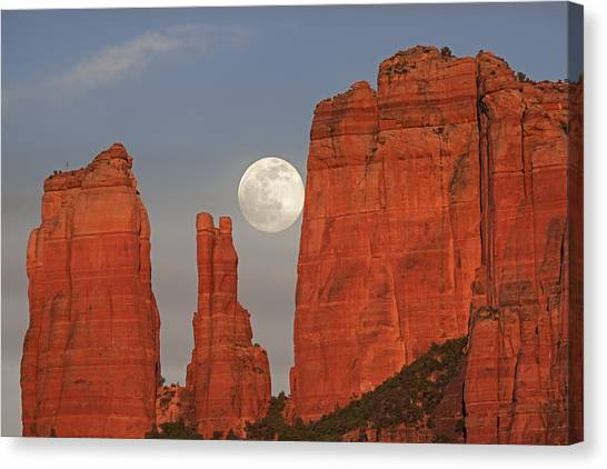 Full Moon In The Cathedral Canvas Print