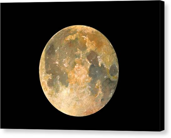 Satellite Canvas Print - Full Moon by Juan Bosco