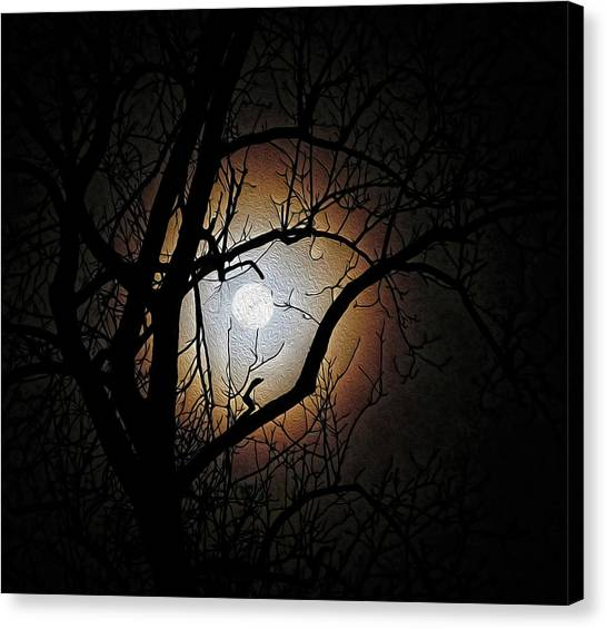Full Moon Oil Painting Canvas Print