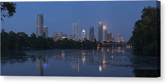 Full Moon Over Austin Canvas Print